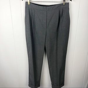 ❤️Zara•Grey pleated front pull on trousers large